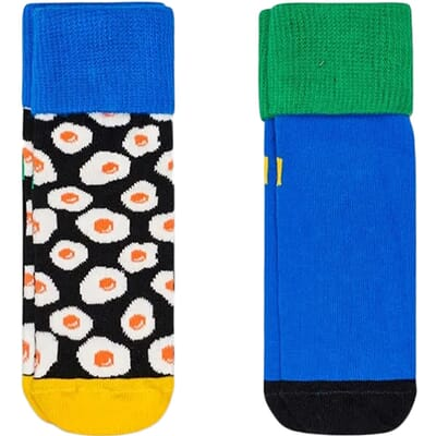 2-Pack Sunny Side Up Anti-Slip Socks