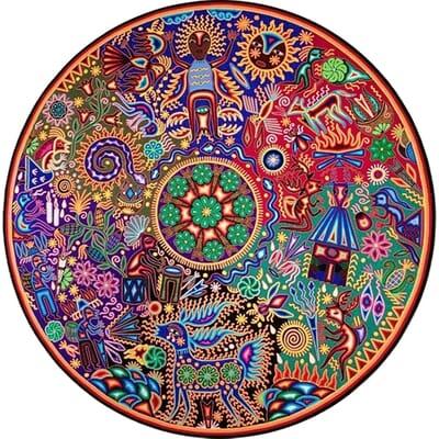 Original Maymi Benítez Sánchez Huichol Art From Nayarit, Mexico.