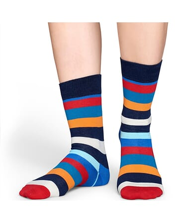 Sharp Blue Stripe Sock