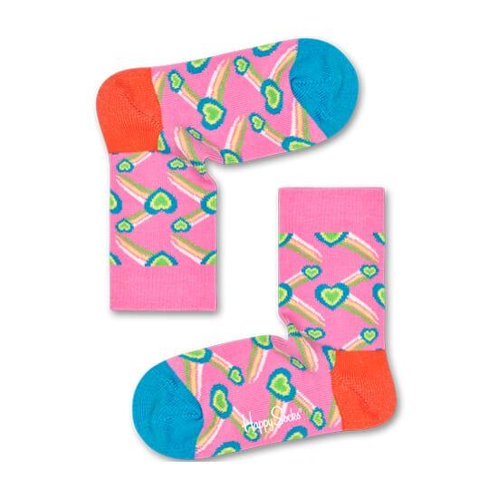 Shooting Heart Sock Pink